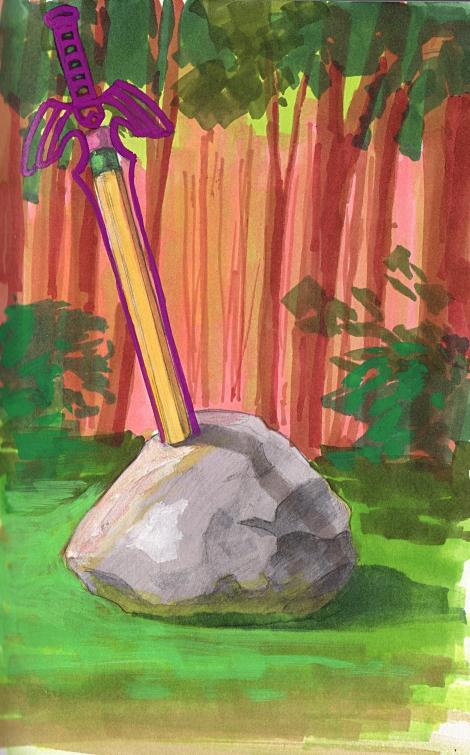 pencil-in the stone sketch