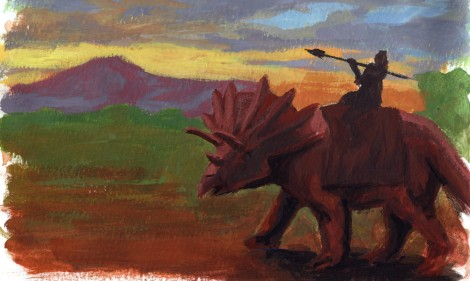 paint study dinosaur