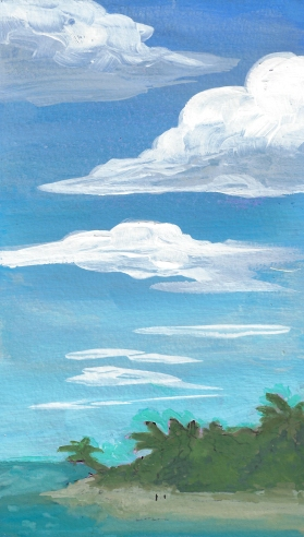 clouds and island
