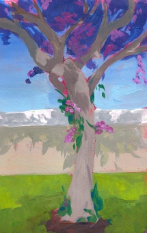 tree in spring sketch